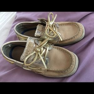 SPERRY TOP-SIDER Shoes Size 12M Bluefish Silver